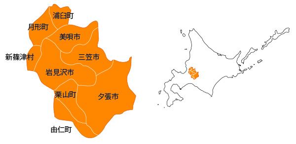 南空知の地図